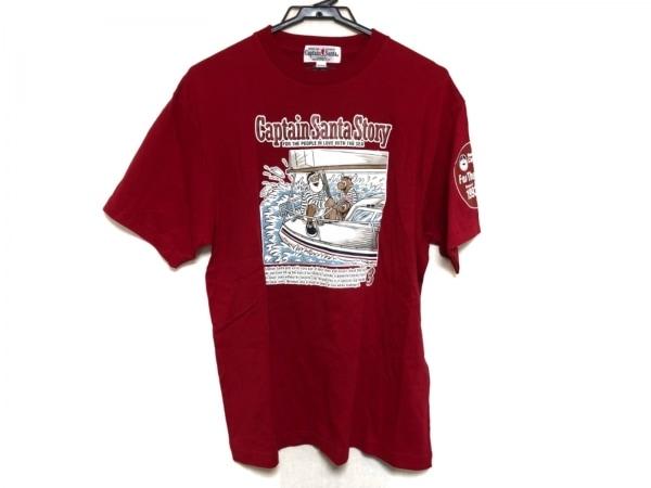 CAPTAIN SANTA(キャプテンサンタ) 半袖Tシャツ サイズM メンズ美品  レッド