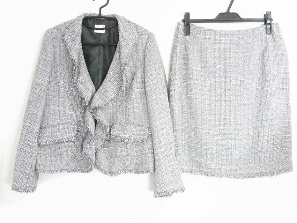 Cara(カーラ) スカートスーツ サイズ15AR L レディース新品同様  黒×アイボリー