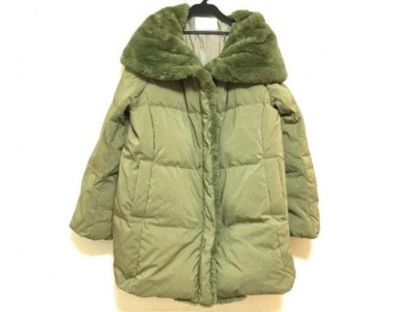 INED(イネド) ダウンジャケット サイズ9 M レディース美品  ダークグリーン 冬物
