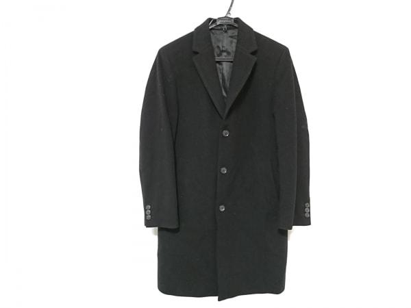 HUGOBOSS(ヒューゴボス) コート メンズ 黒 カシミヤ/冬物
