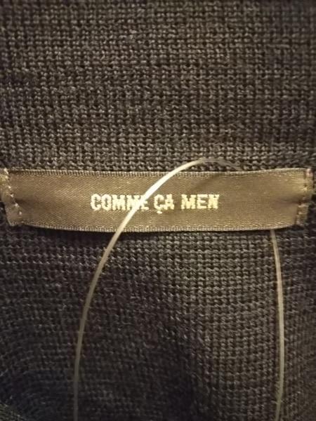 COMME CA MEN(コムサメン) ブルゾン サイズM メンズ 黒 ニット/春・秋物