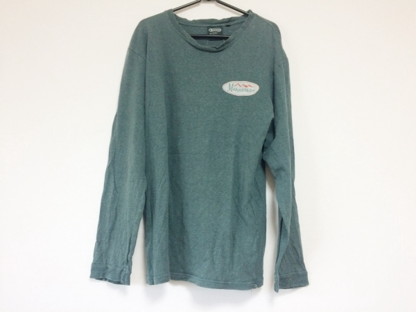 MANASTASH(マナスタッシュ) 長袖Tシャツ サイズL メンズ ダークグリーン