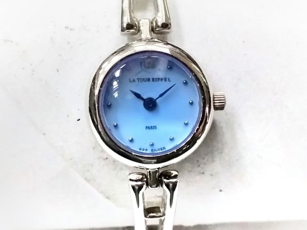 la tour eiffel(ラトゥールエッフェル) 腕時計美品  - - レディース ライトブルー