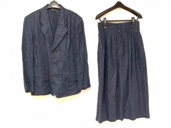 COMMEdesGARCONS(コムデギャルソン) スカートスーツ サイズM レディース ネイビー 麻