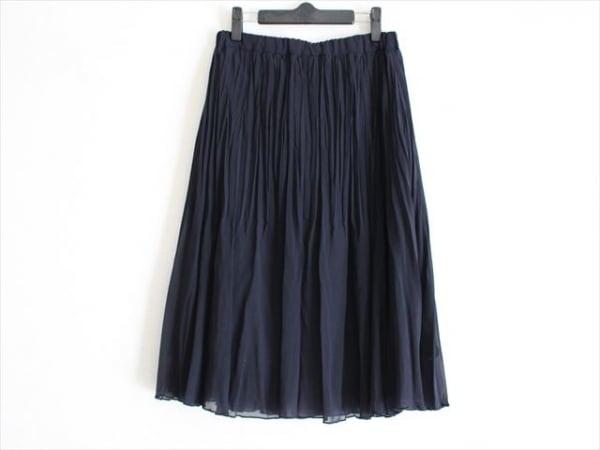 tumugu(ツムグ) スカート サイズF レディース美品  ネイビー プリーツ