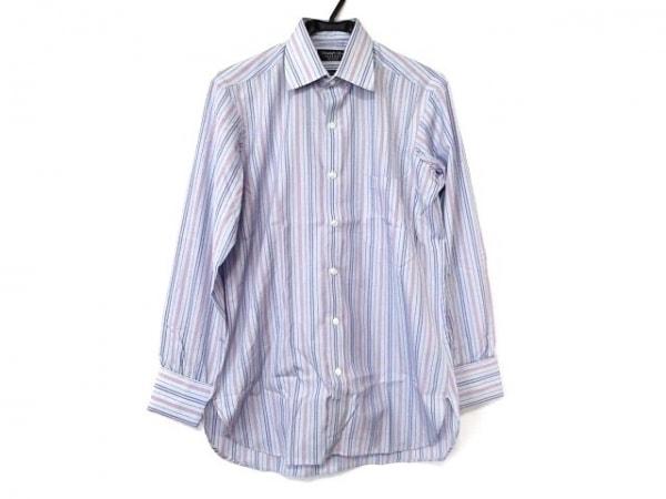 ターンブル&アッサー 長袖シャツ サイズ8 メンズ新品同様  ストライプ/BESPOKE
