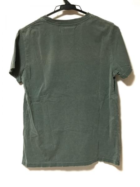 レミ レリーフ 半袖Tシャツ サイズS レディース グリーン×レッド×マルチ
