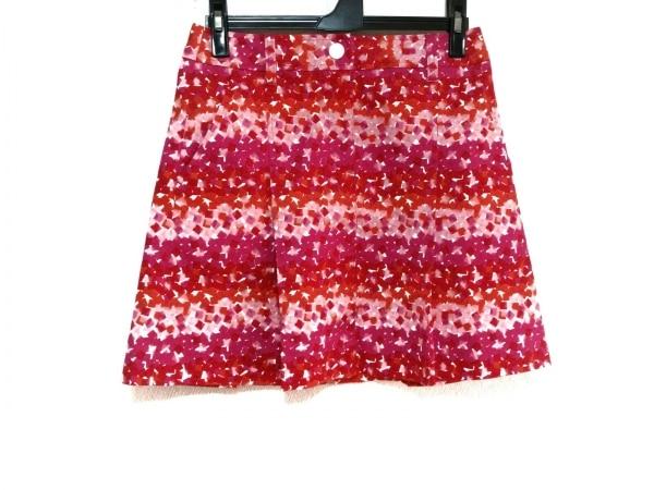 ニジュウサンク スカート サイズW61 H89 レディース美品  ピンク×レッド×白 GOLF
