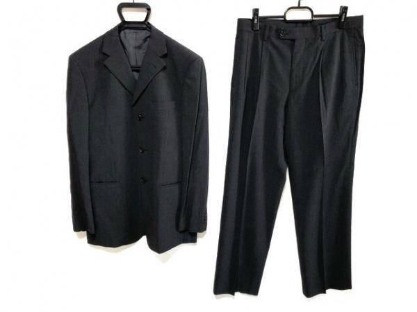 コムサデモードメン シングルスーツ サイズ3 L メンズ ダークグレー 薄手