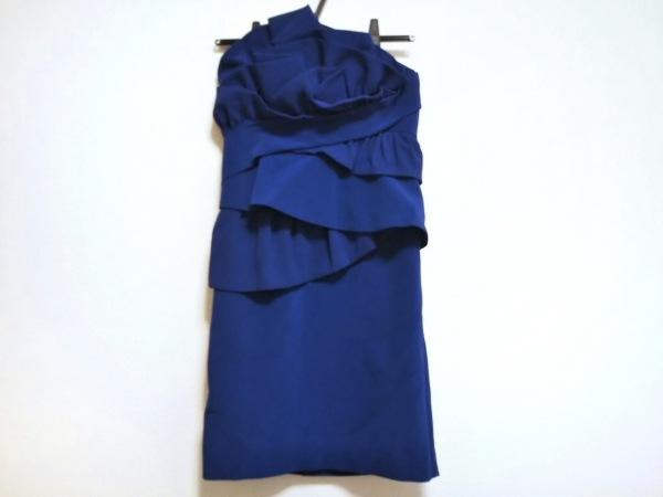ダイアグラム ドレス サイズ36 S レディース美品  ブルー フリル
