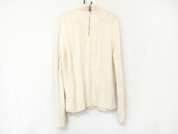 HERMES(エルメス) 長袖セーター サイズM メンズ アイボリー ハーフジップ