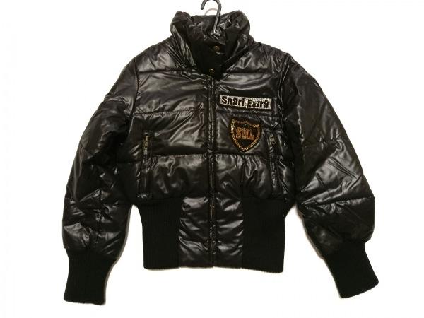 スナールエクストラ ダウンジャケット サイズ38 M レディース 黒 ラインストーン/冬物