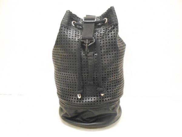 トップショップ ワンショルダーバッグ美品  黒 巾着型/パンチングレザー 合皮