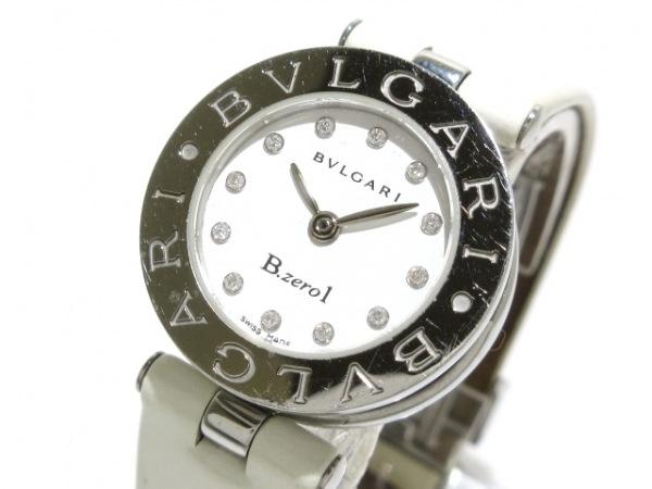 ブルガリ 腕時計 B-zero1 BZ22S レディース 12Pダイヤインデックス/エナメル革ベルト