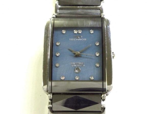 TECHNOS(テクノス) 腕時計 T9280 メンズ シェルブルー