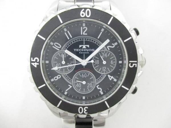 TECHNOS(テクノス) 腕時計 T3032 メンズ 黒