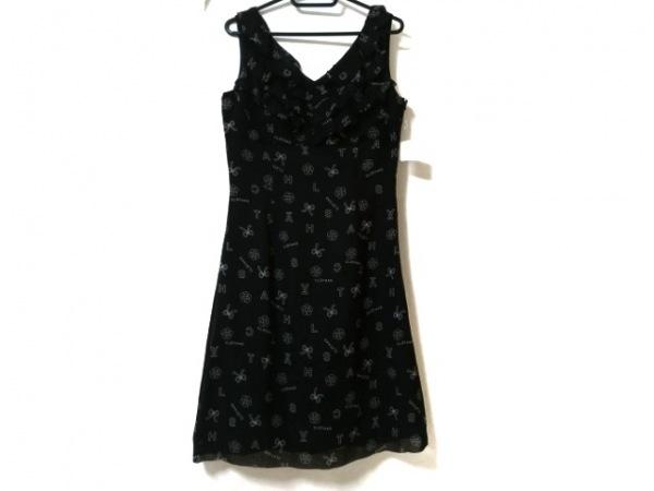 CLATHAS(クレイサス) ワンピース サイズ38 M レディース美品  黒×白 フリル
