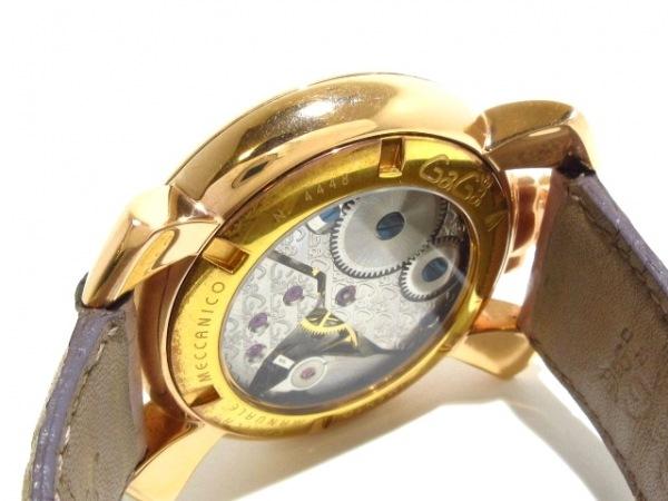 best sneakers ffee5 8a421 GAGA MILANO(ガガミラノ) 腕時計 マヌアーレ48 - メンズ ピンク