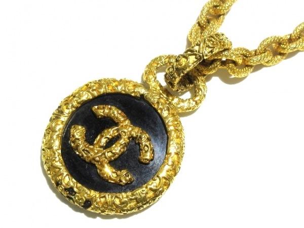 CHANEL(シャネル) ネックレス 金属素材×プラスチック ゴールド×黒
