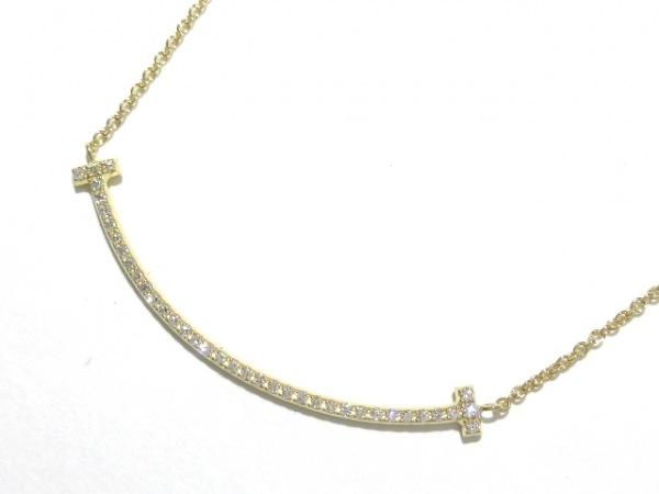 ティファニー ネックレス美品  Tスマイルペンダント(ミニ) K18YG×ダイヤモンド