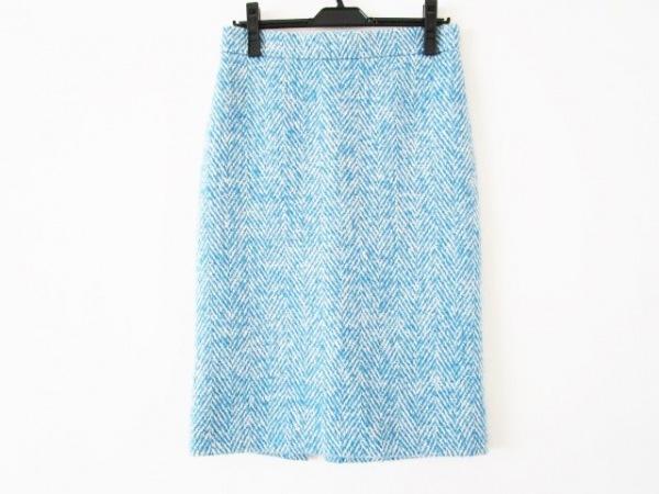 Drawer(ドゥロワー) スカート サイズ38 M レディース ライトブルー×白