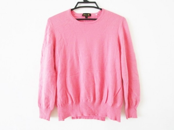 Drawer(ドゥロワー) 長袖セーター サイズ1 S レディース ピンク カシミヤ混