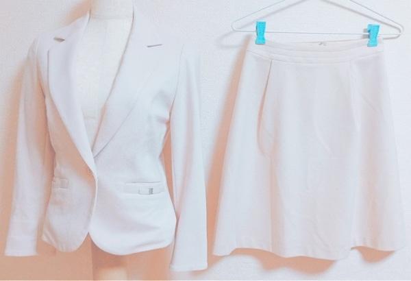 ef-de(エフデ) スカートスーツ サイズ7 S レディース ピンク リボン