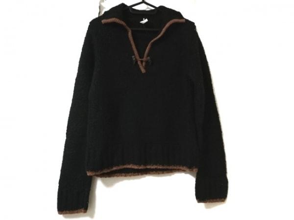 Adabat(アダバット) 長袖セーター サイズ40 M レディース 黒×ブラウン