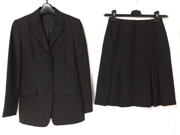 NEW YORKER(ニューヨーカー) スカートスーツ レディース新品同様  ダークグレー×黒