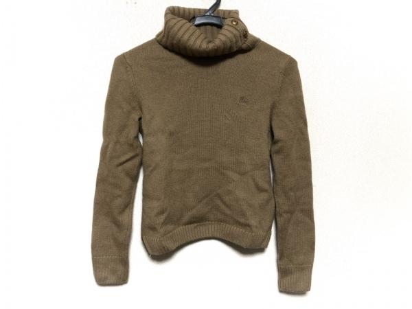 バーバリーブルーレーベル 長袖セーター サイズ38 M レディース ブラウン