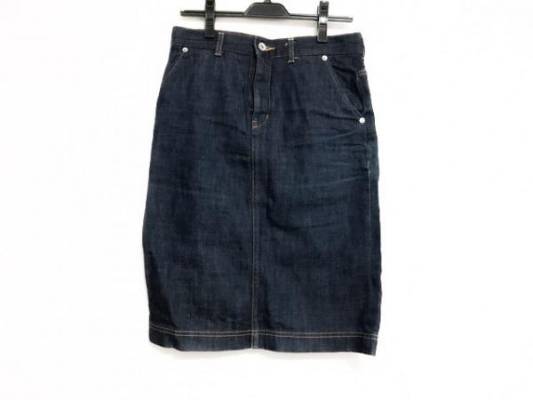 MUVEIL WORK(ミュベールワーク) スカート サイズ38 M レディース美品  ダークネイビー