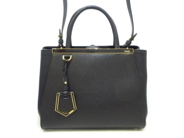フェンディ ハンドバッグ美品  プチトゥージュール 8BH253 黒×ゴールド レザー