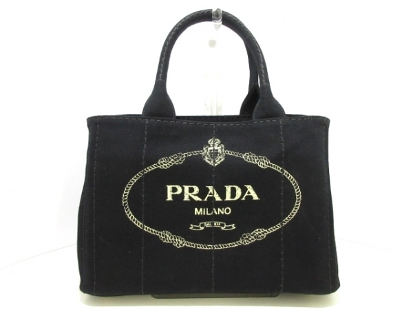 PRADA(プラダ) トートバッグ美品  CANAPA 1BG439 黒 キャンバス