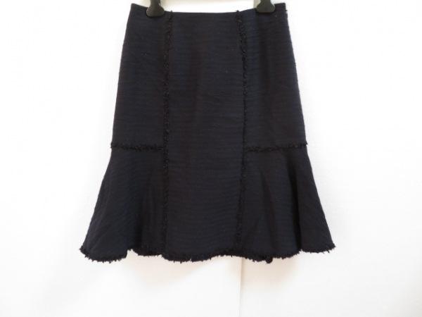 トゥービーシック スカート サイズ42 L レディース美品  ダークネイビー ツイード