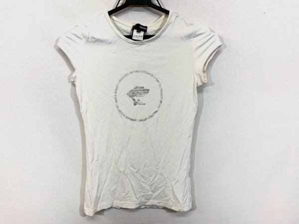 VERSACE SPORT(ヴェルサーチスポーツ) 半袖Tシャツ サイズXS レディース 白×シルバー