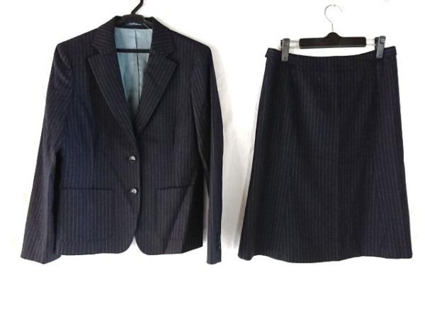 ニューヨーカー スカートスーツ サイズ13AR M レディース美品  ダークグレー×グレー