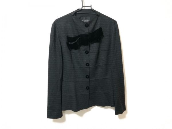ランバンコレクション ジャケット サイズ38 M レディース美品  黒 リボン