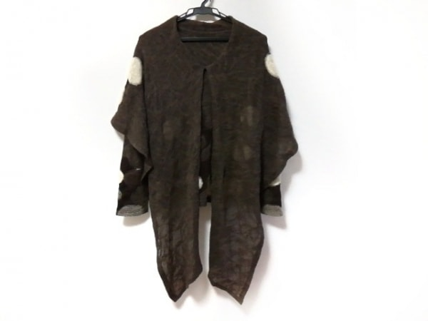 エイココンドウ 長袖セーター レディース美品  ダークブラウン×アイボリー×黒