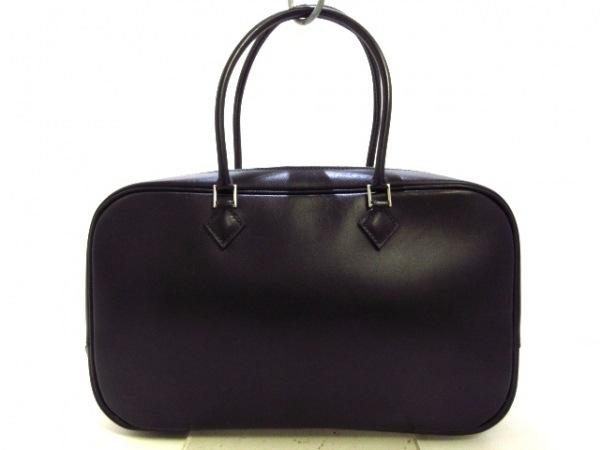 HERMES(エルメス) ハンドバッグ プリュムエラン 黒 ボックスカーフ
