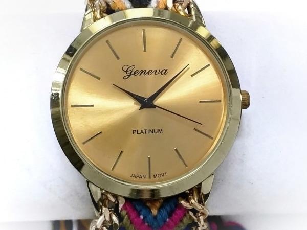 GENEVA QUARTZ(ジェネバクォーツ) 腕時計 - ボーイズ PLATINUM ゴールド