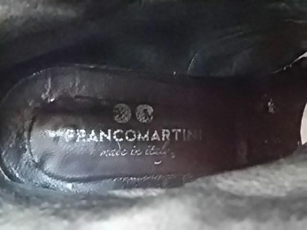 フランコマルティーニ ロングブーツ 37 レディース 黒 アウトソール張替済 レザー