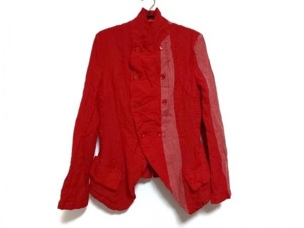 Y's Red Label(ワイズレッドレーベル) ジャケット メンズ レッド×アイボリー