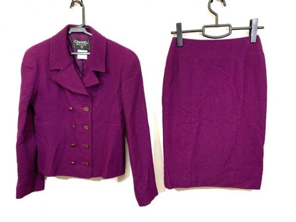 CHANEL(シャネル) スカートスーツ サイズ38 M レディース ボルドー 肩パッド