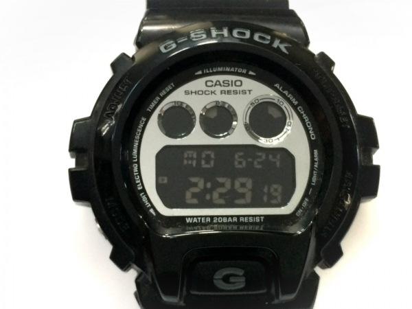 CASIO(カシオ) 腕時計 G-SHOCK DW-6900NB メンズ ラバーベルト 黒×シルバー