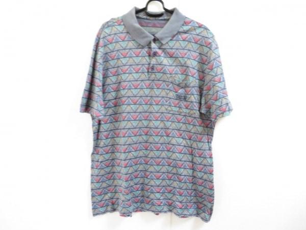MISSONI SPORT(ミッソーニスポーツ) 半袖ポロシャツ サイズL メンズ グレー×マルチ