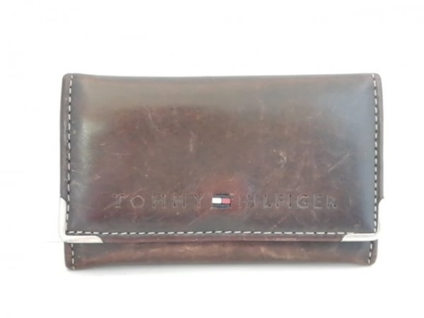 TOMMY HILFIGER(トミーヒルフィガー) キーケース ダークブラウン 6連フック レザー