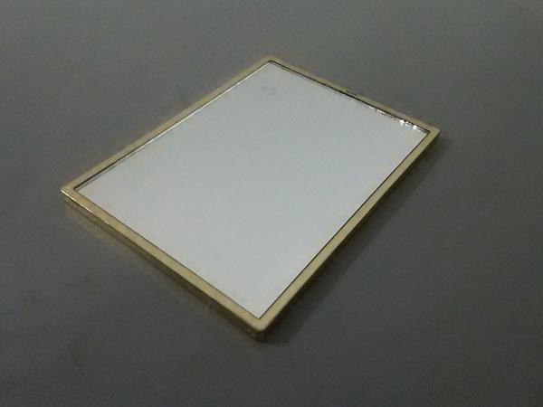 イヴサンローランパフューム ミラー ピンク×ゴールド 金属素材×ガラス