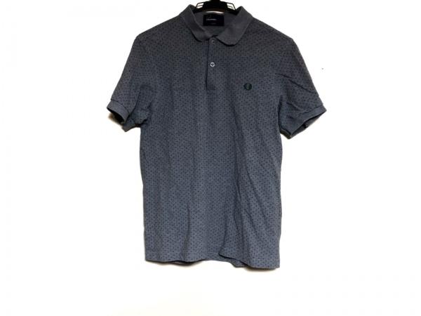 フレッドペリー 半袖ポロシャツ サイズS メンズ グレー×ダークネイビー×マルチ