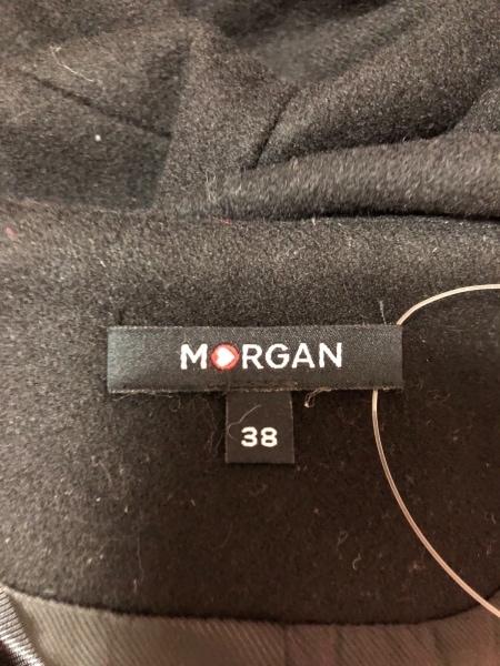 MORGAN(モルガン) コート サイズ38 M レディース 黒 リボン/冬物