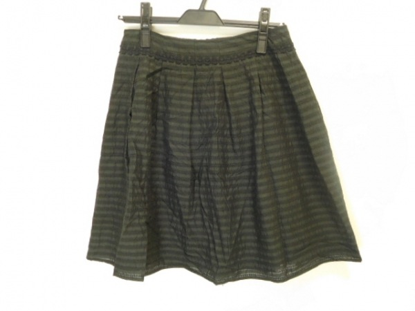 JOCOMOMOLA(ホコモモラ) スカート サイズ42 L レディース美品  ダークグレー×黒